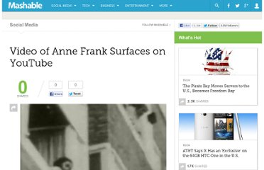 http://mashable.com/2009/10/02/anne-frank-video/