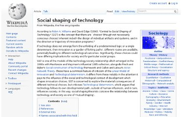 http://en.wikipedia.org/wiki/Social_shaping_of_technology
