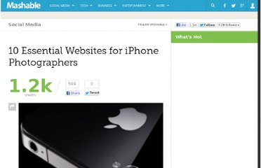 http://mashable.com/2010/10/30/iphone-photography-websites/