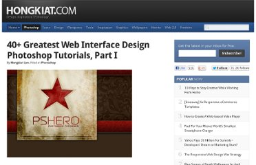http://www.hongkiat.com/blog/40-greatest-web-interface-design-tutorials-photoshop-tutorial/