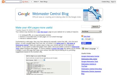 http://googlewebmastercentral.blogspot.com/2008/08/make-your-404-pages-more-useful.html