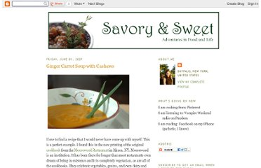 http://www.savoryandsweet.net/2007/06/ginger-carrot-soup-with-cashews.html