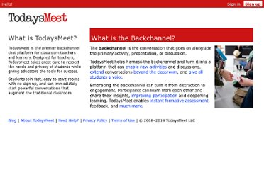 http://todaysmeet.com/help/backchannel