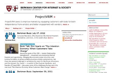 http://cyber.law.harvard.edu/research/projectvrm#