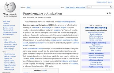 http://en.wikipedia.org/wiki/Search_engine_optimization