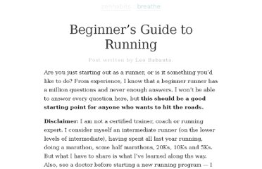 http://zenhabits.net/beginners-guide-to-running/