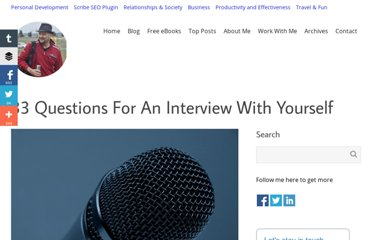 http://www.dragosroua.com/33-questions-for-an-interview-with-yourself/