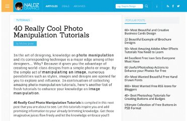 http://naldzgraphics.net/tutorials/40-really-cool-photo-manipulation-tutorials/