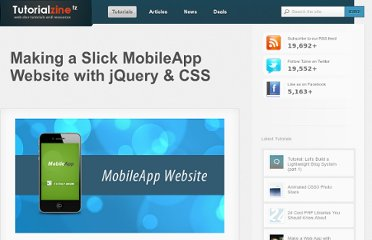 http://tutorialzine.com/2010/07/making-slick-mobileapp-website-jquery-css/