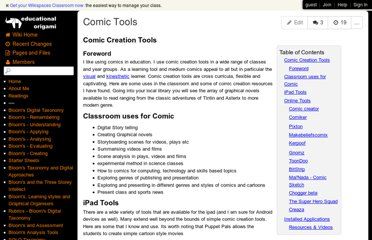 http://edorigami.wikispaces.com/Comic+Tools