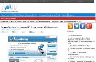 http://www.accessoweb.com/Screen-Toaster-Youtube-en-HD-fomat-mov-et-API-des-demain_a4993.html