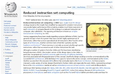 http://en.wikipedia.org/wiki/Reduced_instruction_set_computing