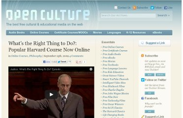 http://www.openculture.com/2009/09/whats_the_right_thing_to_do_popular_harvard_course_now_online.html