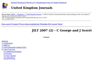 http://www.bailii.org/cgi-bin/markup.cgi?doc=/uk/other/journals/JILT/2007/george_scerri_2.html&query=internet+service+provider+hosting&method=all