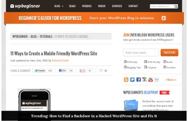 http://www.wpbeginner.com/wp-tutorials/11-ways-to-create-a-mobile-friendly-wordpress-site/