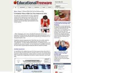 http://www.educational-freeware.com/news/homework-help.aspx