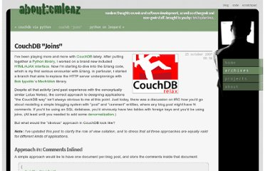 http://www.cmlenz.net/archives/2007/10/couchdb-joins