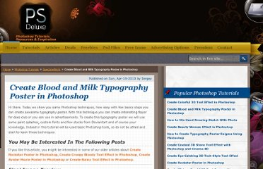 http://www.psdeluxe.com/tutorials/special-effects-tutorials/create-blood-and-milk-typography-poster-in-photoshop/