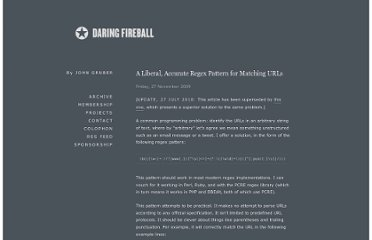 http://daringfireball.net/2009/11/liberal_regex_for_matching_urls