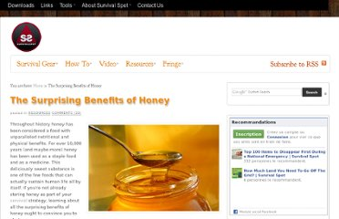 http://www.survival-spot.com/survival-blog/benefits-of-honey/