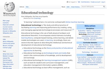 http://en.wikipedia.org/wiki/E-learning