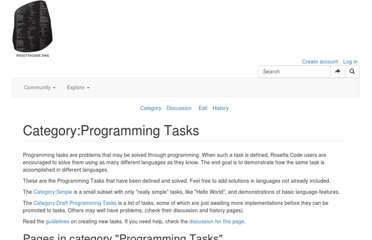 http://rosettacode.org/wiki/Category:Programming_Tasks