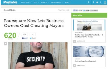 http://mashable.com/2010/11/02/foursquare-lets-businesses-out-mayors/