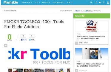 http://mashable.com/2007/08/04/flickr-toolbox/