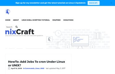 http://www.cyberciti.biz/faq/how-do-i-add-jobs-to-cron-under-linux-or-unix-oses/