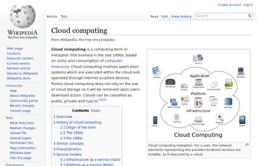 http://en.wikipedia.org/wiki/Cloud_computing
