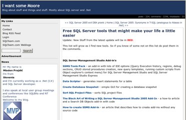 http://weblogs.sqlteam.com/mladenp/archive/2007/11/20/Free-SQL-Server-tools-that-might-make-your-life-a.aspx