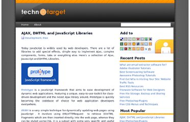 http://technotarget.com/ajax-dhtml-and-javascript-libraries/