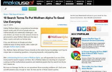 http://www.makeuseof.com/tag/10-search-terms-put-wolfram-alpha-good-everyday/