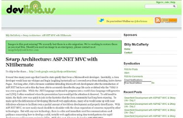 http://devlicio.us/blogs/billy_mccafferty/archive/2008/04/21/asp-net-mvc-best-practices-with-nhibernate-and-spring-net.aspx