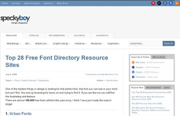 http://speckyboy.com/2008/07/09/top-28-free-font-directory-resource-sites/
