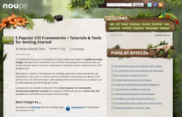 http://www.noupe.com/css/5-popular-css-frameworks-tutorials-tools-for-getting-started.html