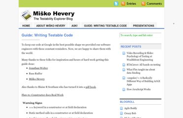 http://misko.hevery.com/code-reviewers-guide/