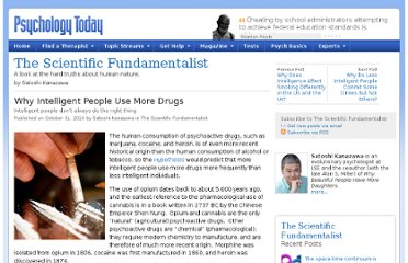 http://www.psychologytoday.com/blog/the-scientific-fundamentalist/201010/why-intelligent-people-use-more-drugs