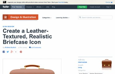 http://psd.tutsplus.com/tutorials/icon-design/create-a-leather-textured-realistic-briefcase-icon/