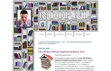 http://www.noop.nl/2008/06/top-100-best-software-engineering-books-ever.html