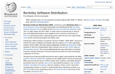 http://en.wikipedia.org/wiki/Berkeley_Software_Distribution
