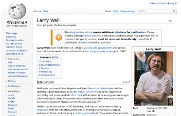 http://en.wikipedia.org/wiki/Larry_Wall