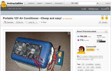 http://www.instructables.com/id/Portable-12V-Air-Conditioner---Cheap-and-easy!/
