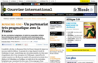 http://www.courrierinternational.com/article/2010/11/02/un-partenariat-tres-pragmatique-avec-la-france