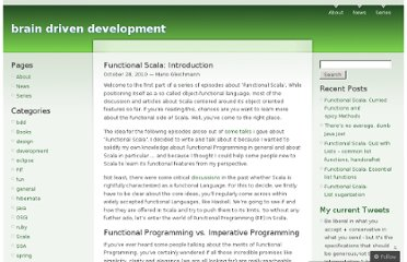 http://gleichmann.wordpress.com/2010/10/28/functional-scala-introduction/