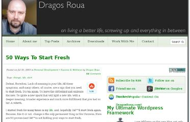http://www.dragosroua.com/50-ways-to-start-fresh/