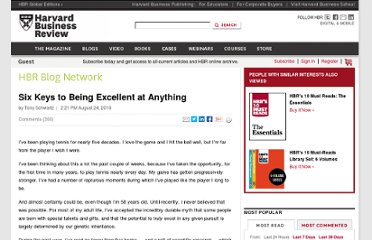 http://blogs.hbr.org/schwartz/2010/08/six-keys-to-being-excellent-at.html