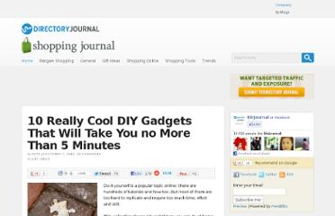 http://www.dirjournal.com/shopping-journal/10-really-cool-diy-gadgets-that-will-take-you-no-more-than-5-minutes/
