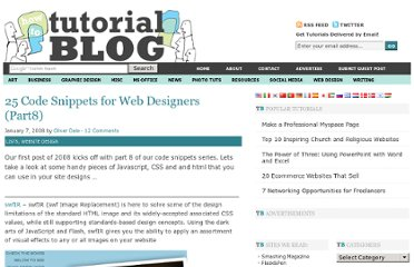 http://tutorialblog.org/25-code-snippets-for-web-designers-part8/