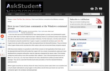 http://www.askstudent.com/tips/how-to-use-unixlinux-commands-at-the-windows-command-prompt/
